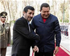 Ahmadinejad visits Venezuela in January 2012, seen here in the company of the Venezuelan president, Hugo Chávez