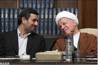 For the first time in three years, president takes part in meeting of Expediency Discernment Council, headed by Rafsanjani