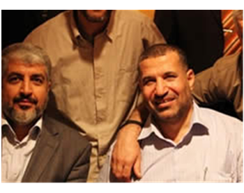 Ahmed Jaabari and Khaled Mashaal in Cairo