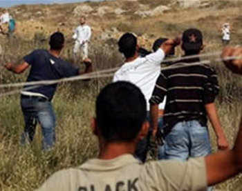 Violent confrontation between settlers and Palestinians