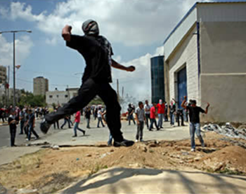 Confrontations and riots in Ramallah on Nakba Day