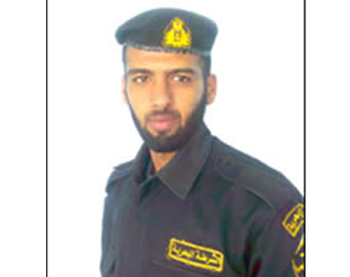 The coastguardsman's security identity: Muhammad al-Kilani in coastguard uniform.