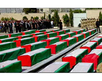 Coffins of the terrorists on display at the Muqataa in Ramallah