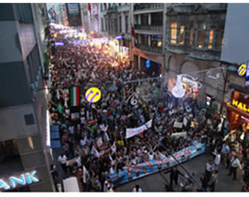 The march in Taksim Square (IHH website, June 3, 2012)