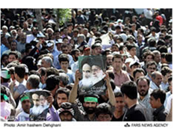 Processions held on the death anniversary of Ayatollah Ruhollah Khomeini, the founder of the Islamic revolution