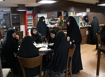 First women's coffee shop in Tehran