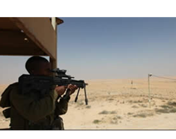 IDF soldiers on operations along the Egyptian-Israeli border near where an Israeli civilian died in a terrorist ambush