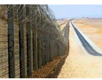 The security fence being constructed along the Israeli-Egyptian border.