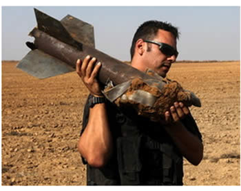 One of the rockets (Photo by Yehuda Lahiani for NRG, June 19, 2012).