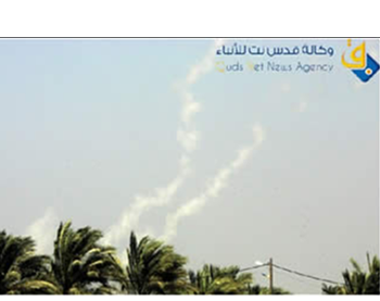 Rocket fire from the Gaza Strip (Qudsnet website, June 20, 2012)