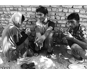 Drug-addicted women in Iran