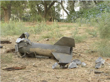 Rockets which fell near population centers in the western Negev (western Negev public relations office, June 20, 2012).