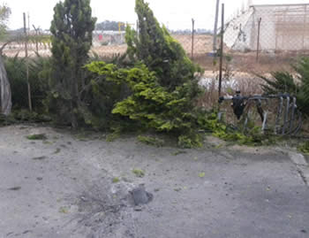 Rockets which landed near towns and villages in the western Negev (Spokesman for the Eshkol local council, June 20, 2012).