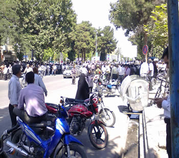 Demonstrations in the city of Nishapur (northeastern Iran) in protest of rising prices (July 23)