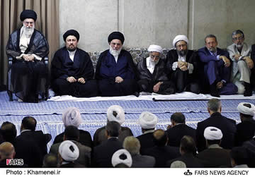 Khamenei at last week's conference of top regime officials
