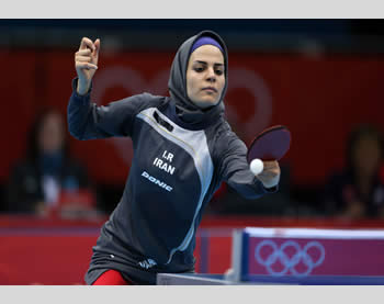 Iranian athletes at the Olympics (Source: www.olympic.ir, the website of Iran's Olympic Committee)