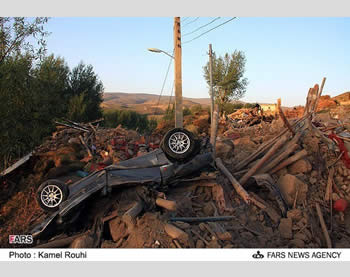 Aftermath of the earthquakes in northwestern Iran