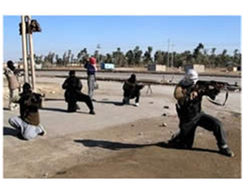 Army of Islam operatives train in the Gaza Strip (Picture from the vb.n4h.com website).
