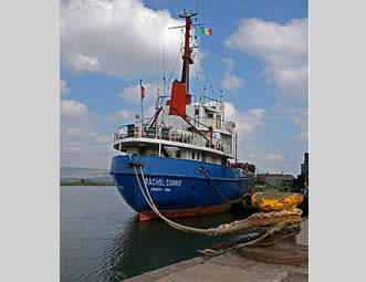 A ship from one of the flotillas to the Gaza Strip, renamed for Rachel Corrie (All pictures from Wikipedia).