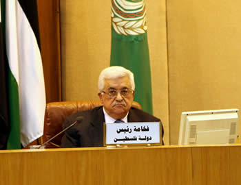 Abu Mazen bei dem Treffen des Follow-up Ausschusses in Kairo (Wafa, 6. September 2012)