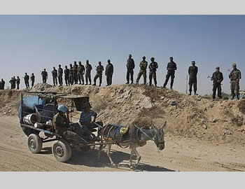 Hamas administration forces deployed along the Egypt - Gaza Strip border (Paltimes, September 16, 2012)