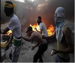 Hamas protest rally in the Shoefat refugee camp (Palestine-info, September 18, 2012)