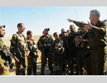 Israel's chief of staff visits the site of an incident on the Israeli-Egyptian border where an IDF soldier was killed.