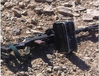 One of the weapons seized during the incident (IDF Spokesman, September 23, 2012).