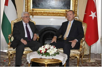 Abu Mazen at a meeting with Turkey's Prime Minister (Wafa, September 21, 2012)