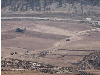 The site of the downing of the drone in southern Israel (Pictures by Yehuda Lahiani and courtesy of NRG, October 7, 2012).