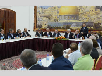 Mahmoud Abbas meets with Israeli Knesset members in Ramallah (Wafa News Agency, October 14, 2012).
