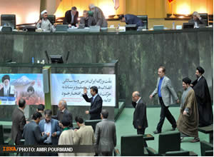 Majles starts proceedings to summon Ahmadinejad to hearing for second time in a year