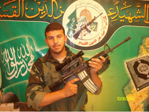 Hamas terrorist operative Abd al-Rahman Abu Jalala, killed in the IAF strike in the northern Gaza Strip (Izz al-Din al-Qassam Brigades website, October 22, 2012).