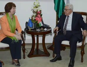 Mahmoud Abbas and Catherine Ashton (Wafa News Agency, October 29, 2012)