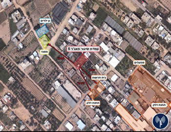 Using public facilities as shields: long-range Fajr-5 rocket launching sites, next to a kindergarten, a mosque, a factory and a gas station (IDF Spokesman, November 15, 2012).