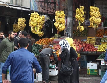 A market in the Gaza Strip.