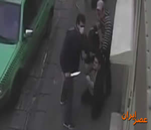 Still image from the video documenting an armed robbery in Tehran