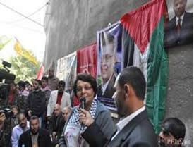 Layla Khaled visits the northern Gaza Strip (PFLP website, December 10, 2012).