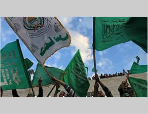 Hamas flags at the rally in Qalqiliya, December 15 (Ajnad Facebook page, December 15, 2012)