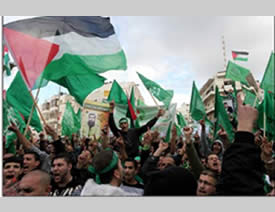 The Hamas rally in Ramallah (Wafa News Agency, December 14, 2012)