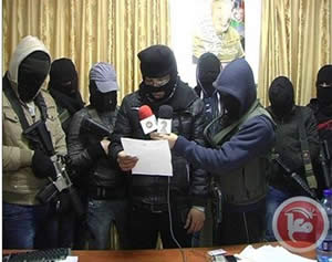 The press conference of Fatah operatives in the Balata refugee camp (Ma'an News Agency, January 10, 2013).