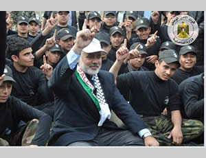 Ismail Haniya, head of the de-facto Hamas administration, at the graduation ceremony (Hamas forum website, December 27, 2013).