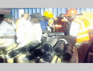 Nigerian security forces discover the weapons stowed aboard the ship.