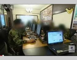 Hezbollah's main war room (Al-Manar website, December 18, 2012).