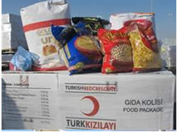 Turkish food packages enter the Gaza Strip through the Kerem Shalom crossing (Website of the Coordinator for Government Activities in the Territories, March 6, 2013).
