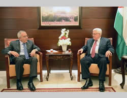 Mahmoud Abbas accepts Salam Fayyad's letter of resignation (Wafa News Agency, April 13, 2013).
