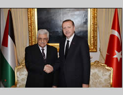 Mahmoud Abbas meets Erdogan, Turkish prime minister, April 22, 2013