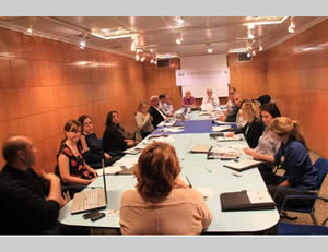 A conference organized by the PCHR held in Spain to formulate an anti-Israeli lawfare strategy