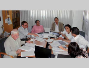 PCHR members meet with Goldstone and members of his commission