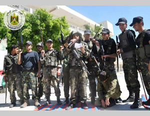 Al-Futuwwa students during an exercise which simulated an attack on an IDF post and the abduction of an Israeli soldier